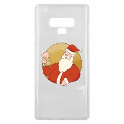 Чехол для Samsung Note 9 Santa with a beer glass
