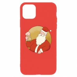 Чехол для iPhone 11 Santa with a beer glass