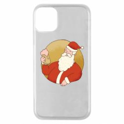 Чехол для iPhone 11 Pro Santa with a beer glass