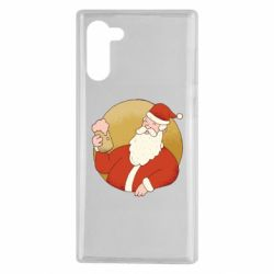 Чехол для Samsung Note 10 Santa with a beer glass