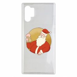 Чехол для Samsung Note 10 Plus Santa with a beer glass