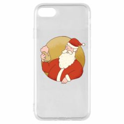 Чехол для iPhone 7 Santa with a beer glass
