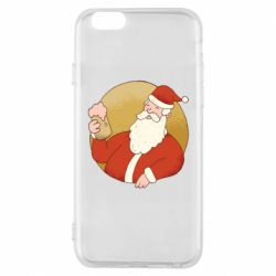 Чехол для iPhone 6/6S Santa with a beer glass