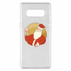 Чехол для Samsung Note 8 Santa with a beer glass