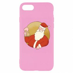 Чехол для iPhone 8 Santa with a beer glass