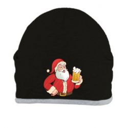 Шапка Santa with a beer