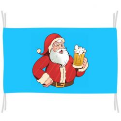 Флаг Santa with a beer