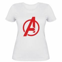 Жіноча футболка Сaptain Аmerica logo