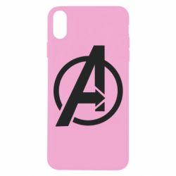 Чохол для iPhone Xs Max Сaptain Аmerica logo