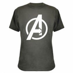 Камуфляжна футболка Сaptain Аmerica logo