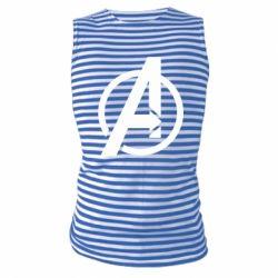 Майка-тільняшка Сaptain Аmerica logo