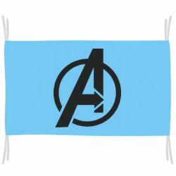 Прапор Сaptain Аmerica logo