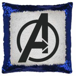 Подушка-хамелеон Сaptain Аmerica logo