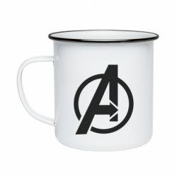 Кружка емальована Сaptain Аmerica logo