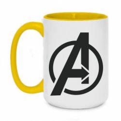 Кружка двоколірна 420ml Сaptain Аmerica logo