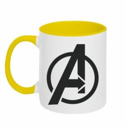 Кружка двоколірна 320ml Сaptain Аmerica logo