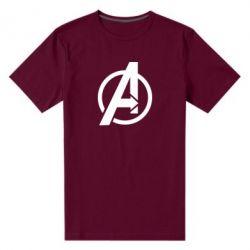 Чоловіча стрейчева футболка Сaptain Аmerica logo
