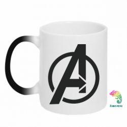 Кружка-хамелеон Сaptain Аmerica logo