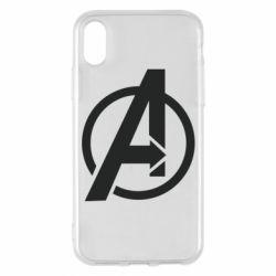 Чохол для iPhone X/Xs Сaptain Аmerica logo