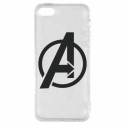 Купить MARVEL, Чехол для iPhone5/5S/SE Сaptain America logo, FatLine