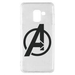 Чохол для Samsung A8 2018 Сaptain Аmerica logo