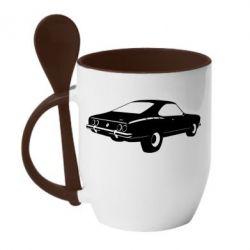 Купить Кружка с керамической ложкой Ford mustang, FatLine