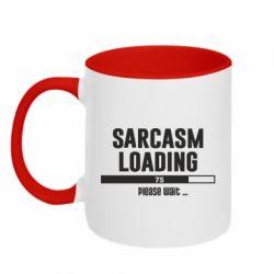 Кружка двоколірна 320ml Sarcasm loading