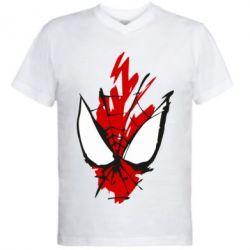 Чоловіча футболка з V-подібним вирізом Сareless art Spiderman