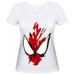 Жіноча футболка з V-подібним вирізом Сareless art Spiderman