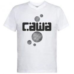 Мужская футболка  с V-образным вырезом Саша