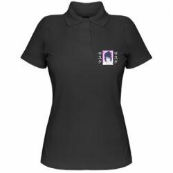 Женская футболка поло Saske Naruto and hieroglyphs