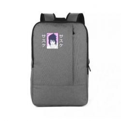 Рюкзак для ноутбука Saske Naruto and hieroglyphs