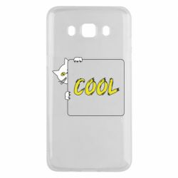 Чехол для Samsung J5 2016 Сat and the inscription cool