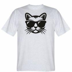 Мужская футболка Сat in sunglasses