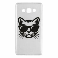Чехол для Samsung A7 2015 Сat in sunglasses