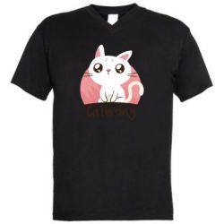 Чоловіча футболка з V-подібним вирізом Сaturday