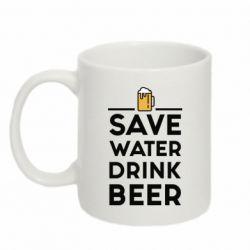Купить Кружка 320ml Save water Drink beer, FatLine