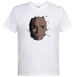 Чоловіча футболка з V-подібним вирізом Сайтама