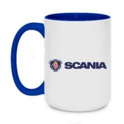Кружка двоколірна 420ml Scania Logo