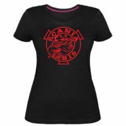 Жіноча стрейчева футболка Scania vabis logo