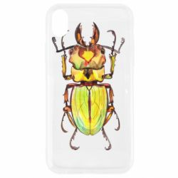 Чехол для iPhone XR Scarab beetle