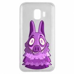 Чохол для Samsung J2 2018 Scared llama from fortnite