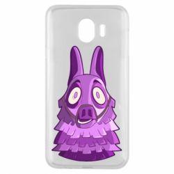 Чохол для Samsung J4 Scared llama from fortnite