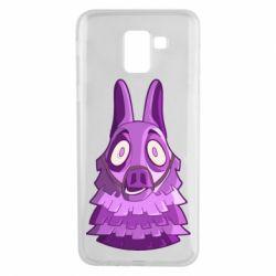 Чохол для Samsung J6 Scared llama from fortnite