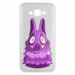 Чохол для Samsung J7 2015 Scared llama from fortnite