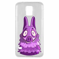 Чохол для Samsung S5 Scared llama from fortnite