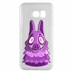 Чохол для Samsung S6 EDGE Scared llama from fortnite