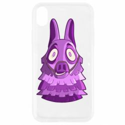 Чохол для iPhone XR Scared llama from fortnite