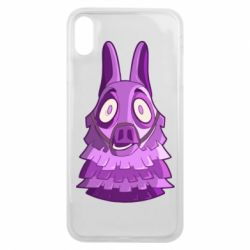 Чохол для iPhone Xs Max Scared llama from fortnite