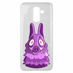 Чохол для Samsung J8 2018 Scared llama from fortnite